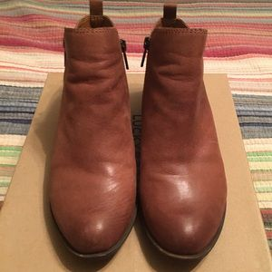 Lucky brand Basel leather bootie size 8.